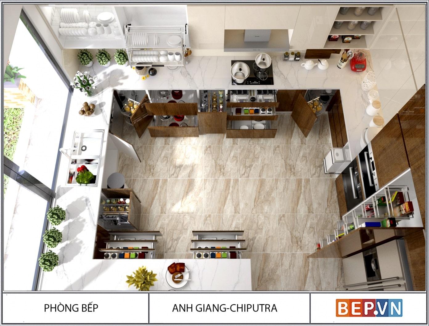 Xu hướng thiết kế tủ bếp thông minh trong xã hội hiện đại
