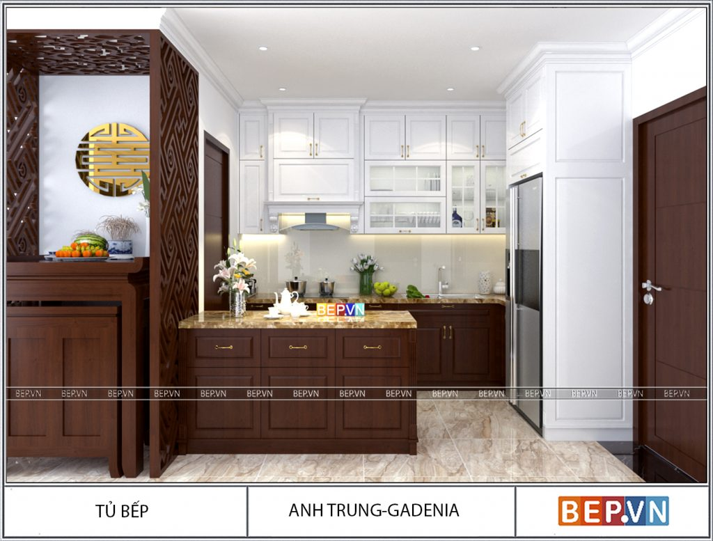 Thiết kế nhà bếp theo phong cách tân cổ điển