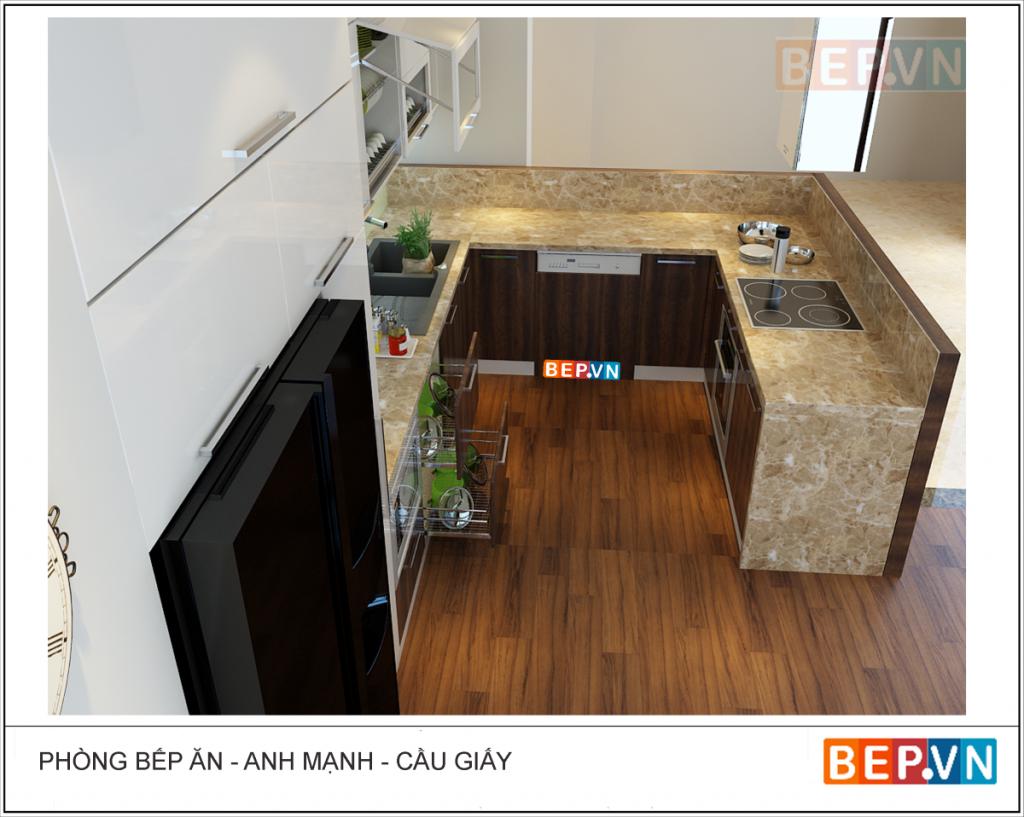 Bàn bếp làm từ gạch ngày càng được thay thế bởi các chất liệu khác phù hợp hơn, bền và đẹp hơn.