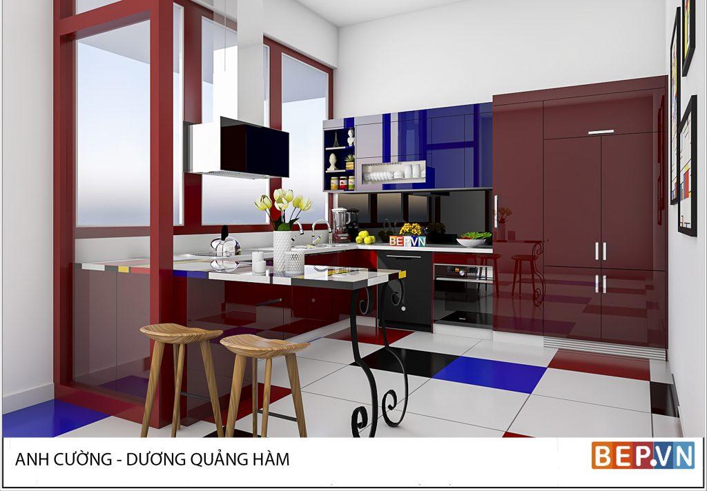 Thiết kế nội thất phòng bếp theo phong cách hiện đại