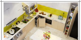 Thiết kế tủ bếp chữ L đẹp hiện đại gia đình chị Cơ