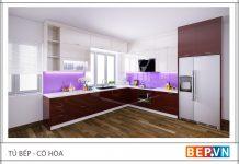 Tủ bếp Acrylic, tủ bếp giá rẻ mà chất không rẻ