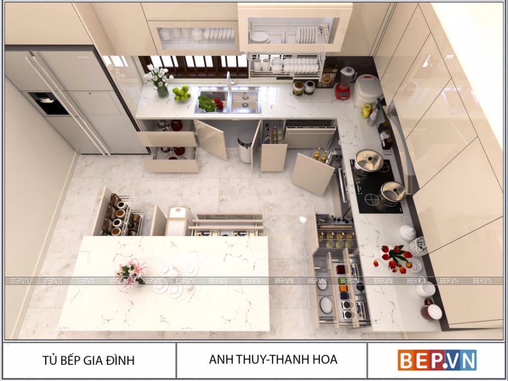 Vai trò của tủ bếp với mỗi cuộc sống gia đình