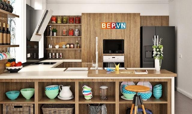 Tủ bếp Laminate mang hơi ấm cho ngôi nhà bạn