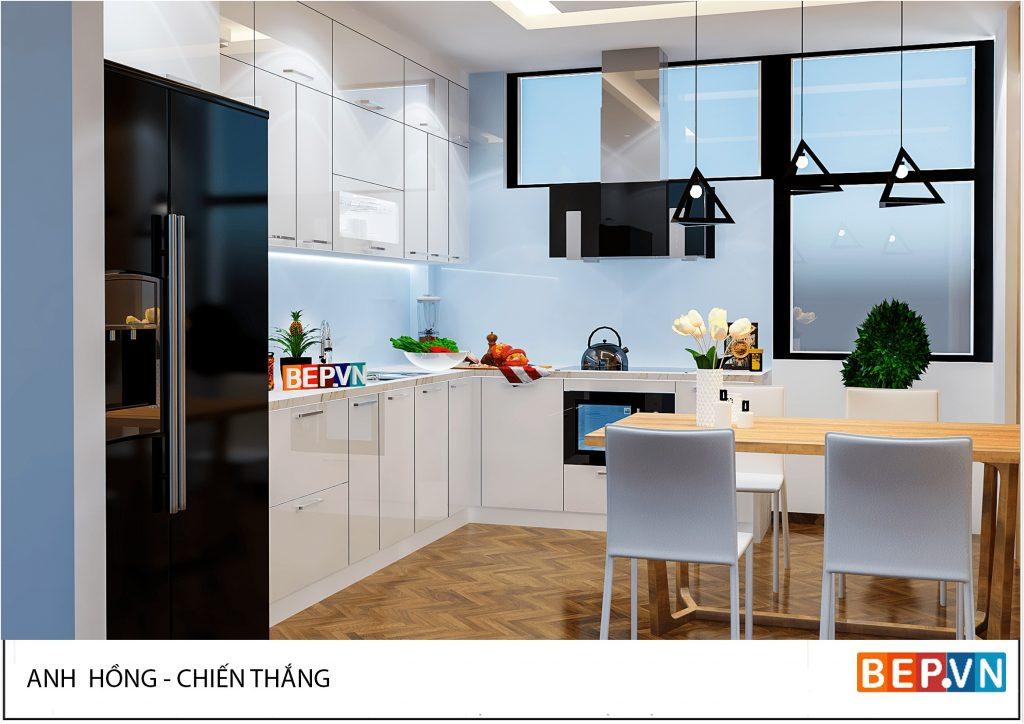 Tủ bếp đẹp hiện đại cho mọi không gian nhà bếp