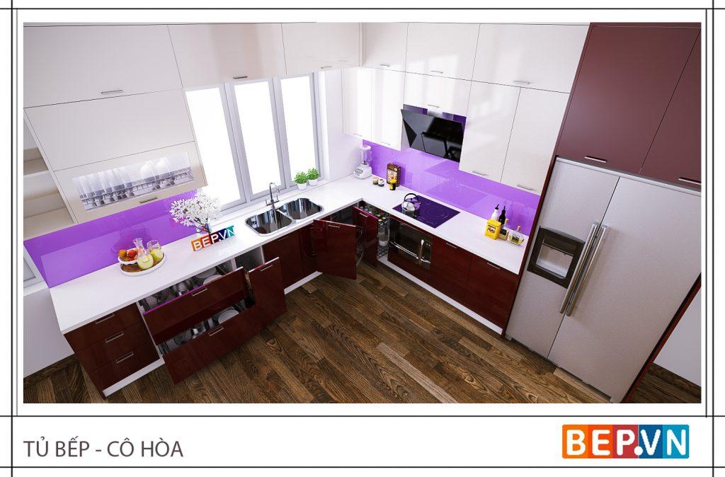 Tủ bếp nhỏ hợp mệnh Thổ