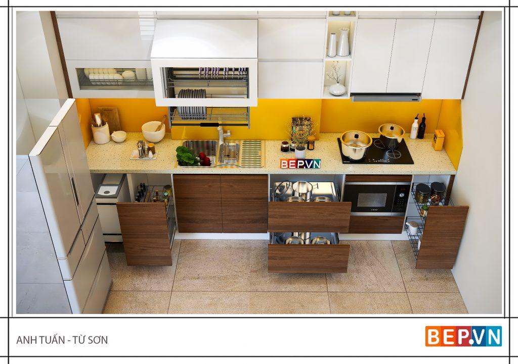 Tủ bếp nhỏ hợp mệnh Kim