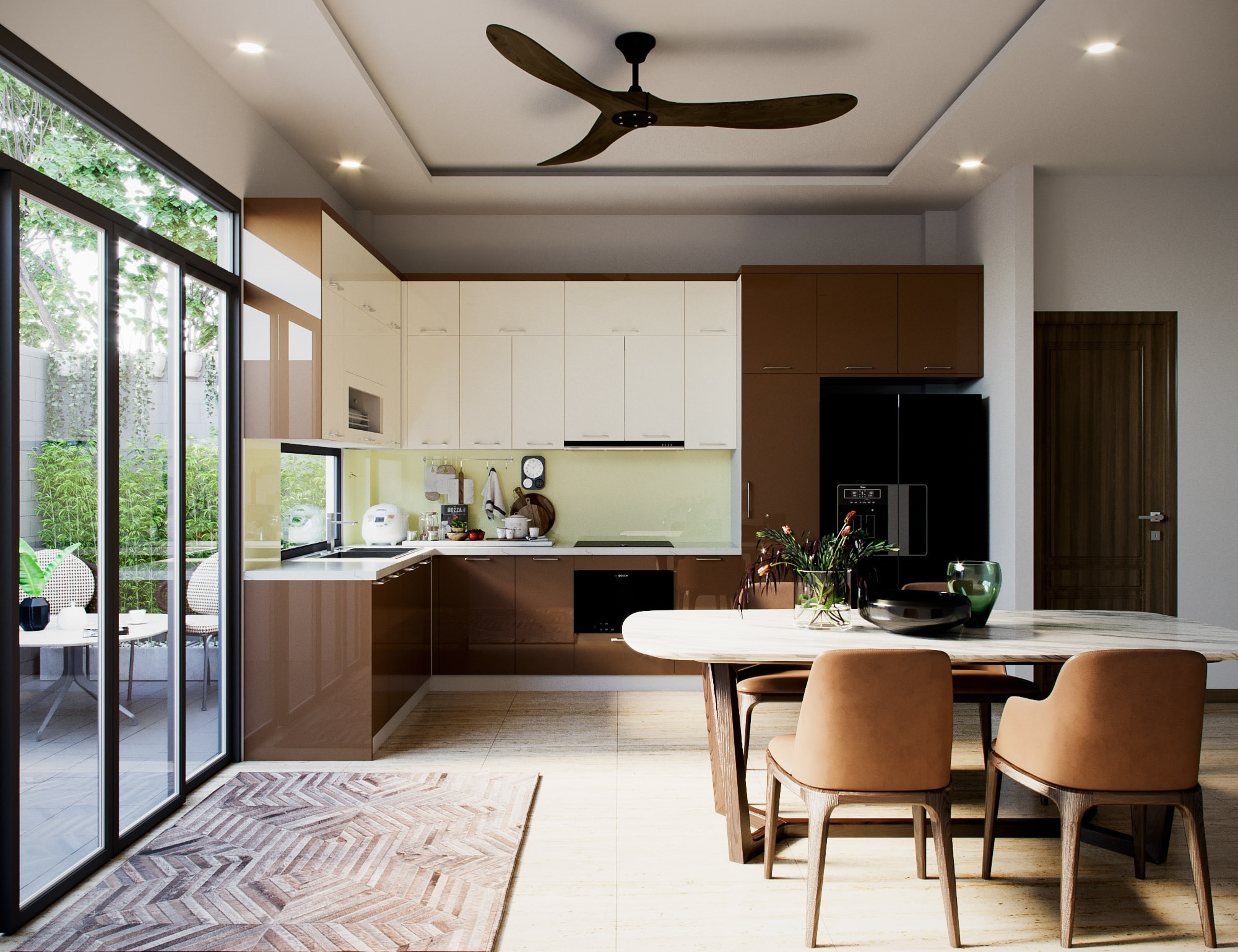 Tam giác bếp hoàn hảo cho thiết kế tủ bếp