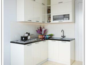 Tủ bếp Acrylic chữ L gia đình cô Chinh