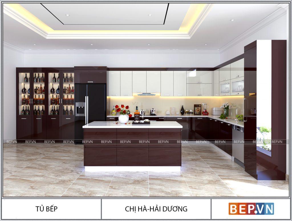 Thiết kế tủ bếp chị Hà Hải Dương