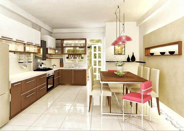 Bếp đẹp dành cho nhà ống với thiết kế mở