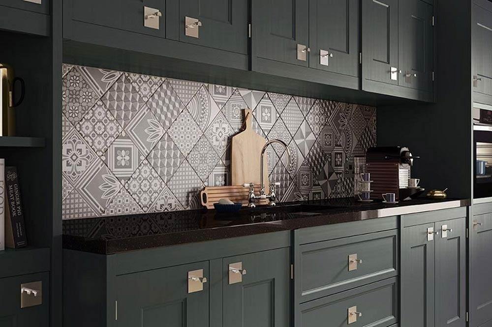 Nhà bếp đẹp với Chất liệu gạch men
