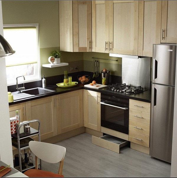 Không gian bếp được thiết kế thông minh hiện đại