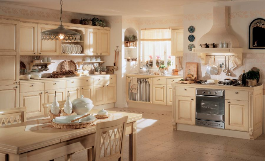 Kiến trúc nhà bếp đẹp theo kiểu tân cổ điển