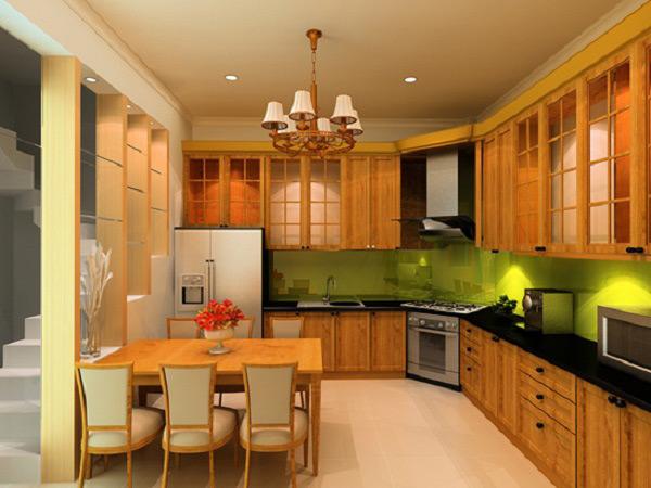 Tạo không gian bếp ấm áp bằng tone màu Pastel