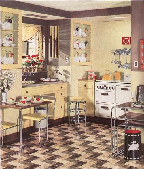 Thiết kế nhà bếp theo phong cách Retro