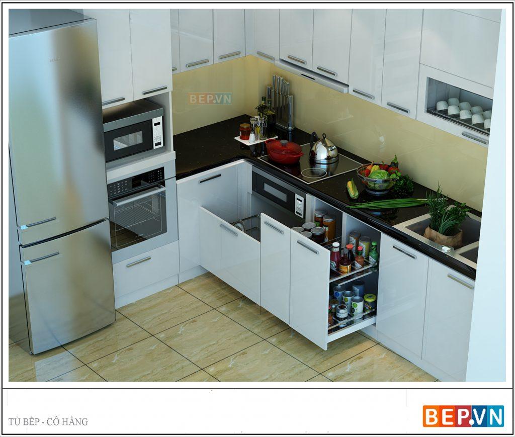 Nhà bếp sử dụng tủ bếp chữ I, L