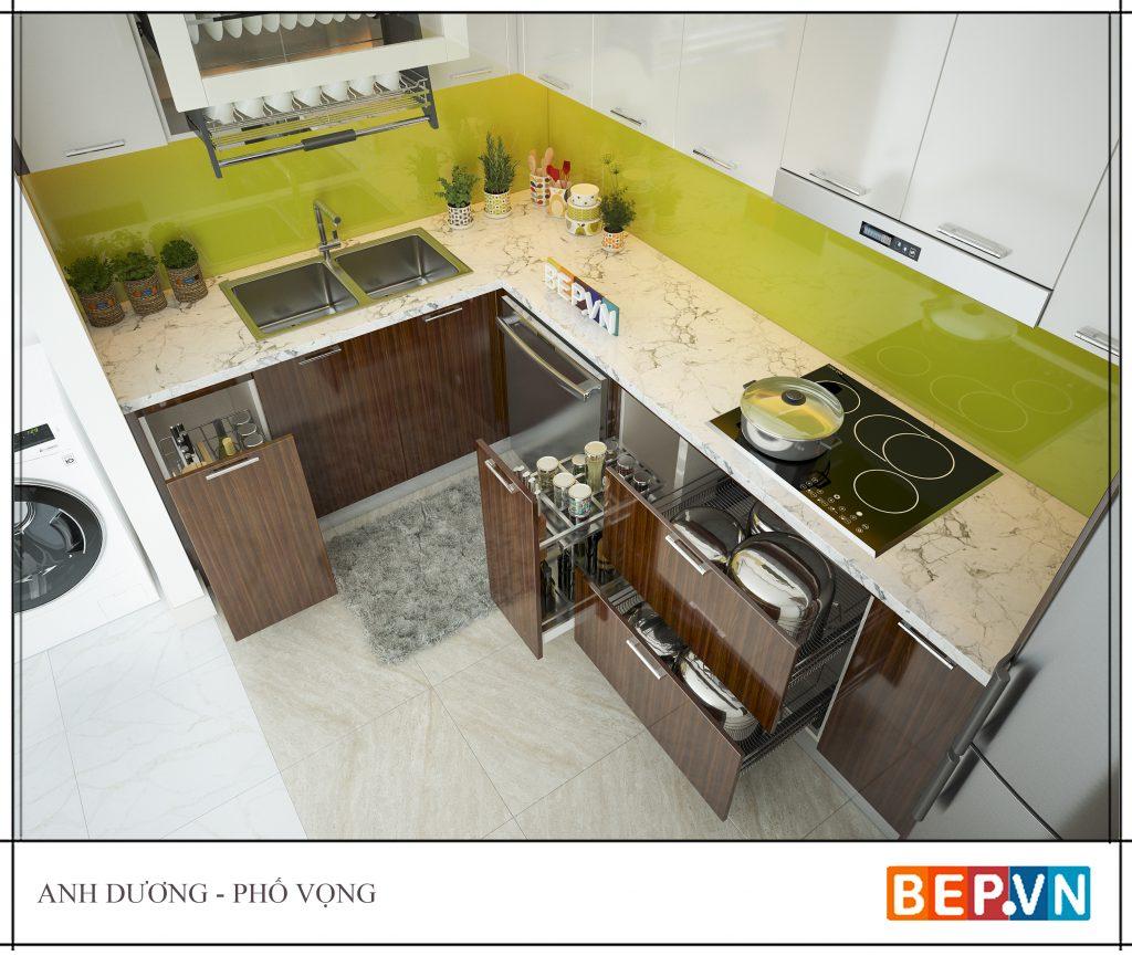 Ý tưởng thiết kế phòng bếp đẹp đơn giản và hiện đại