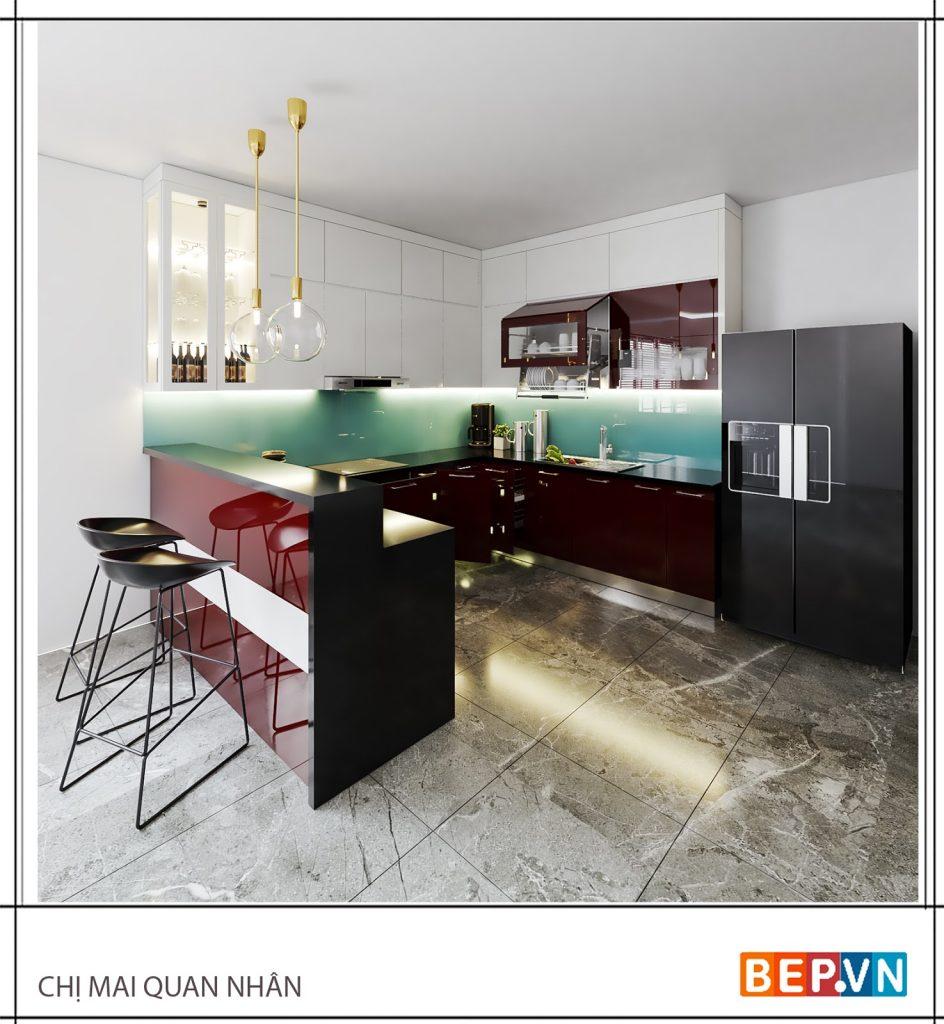 Ý tưởng thiết kế phòng bếp đẹp với tam giác bếp hoàn hảo