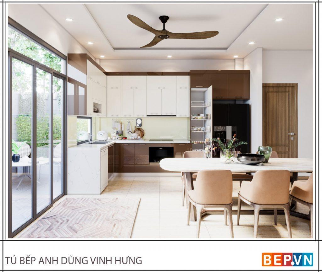 Ý tưởng thiết kế phòng bếp mở đẹp thông thoáng