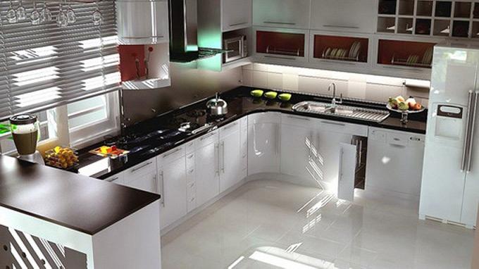 Hình ảnh bếp được thiết kế theo mô hình tam giác