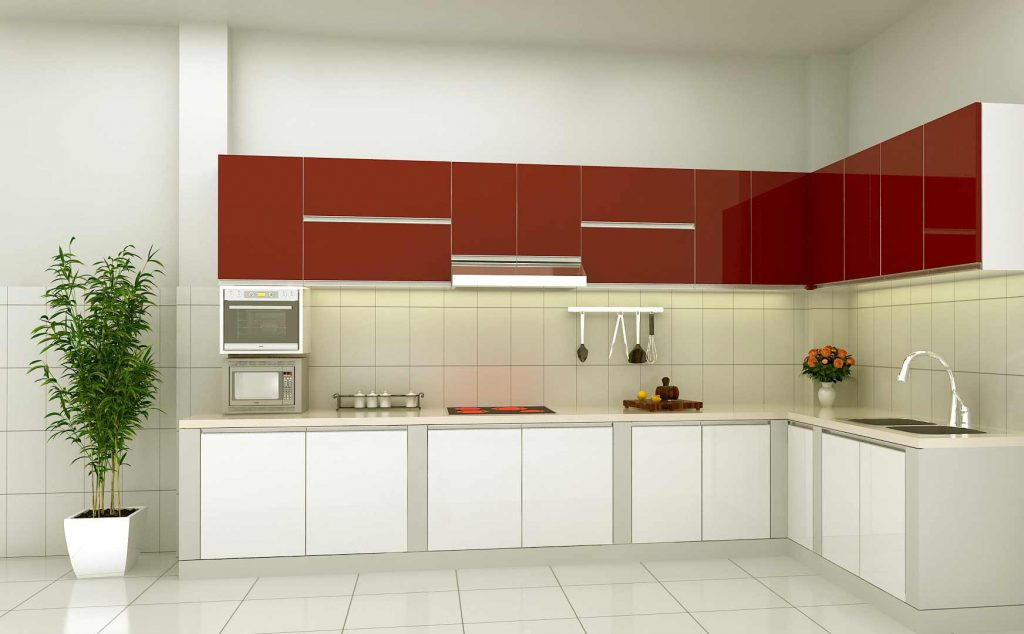 Hình ảnh bếp được thiết kế theo phong cách hiện đại