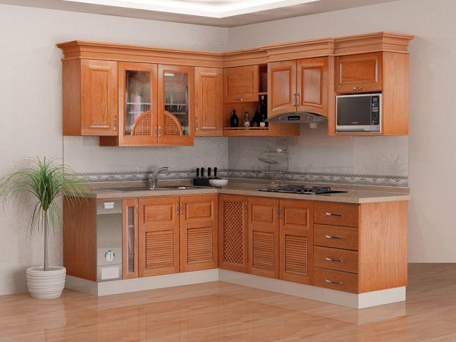 Mẫu nhà bếp được thiết kế theo phong cách truyền thống