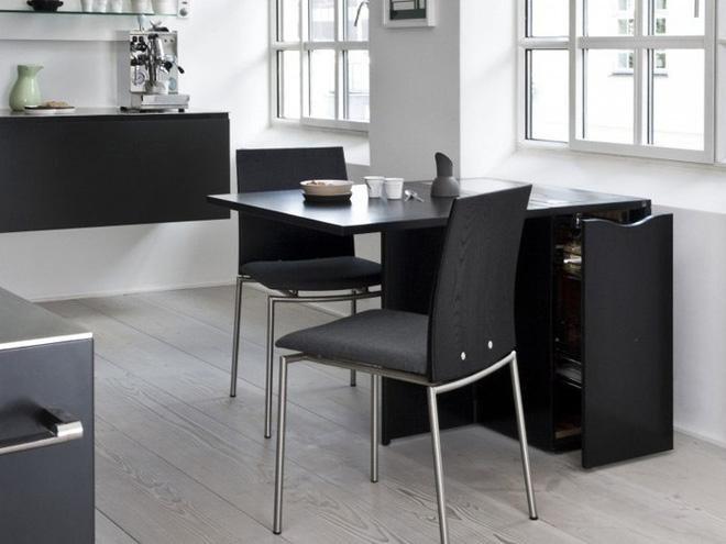 Nhà bếp với thiết kế bàn treo