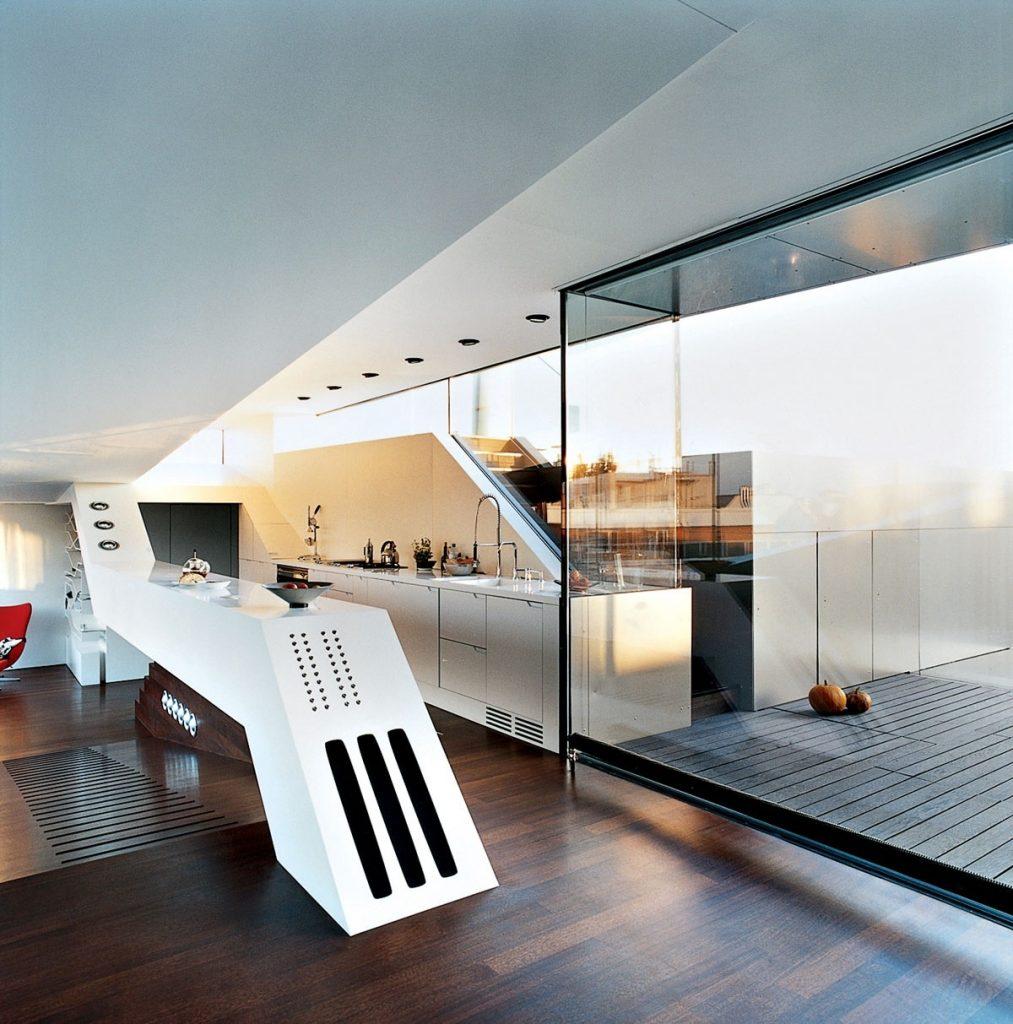 thiết kế tủ bếp mạnh mẽ và độc đáo
