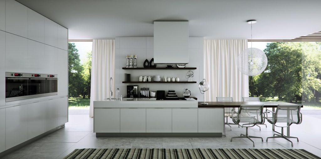 thiết kế tủ bếp đẹp hoàn hảo, gọn gàng và ngăn nắp