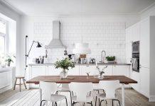 thiết kế nhà bếp trắng