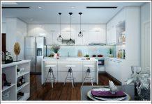 Tủ bếp Acrylic nhà chú Dũng