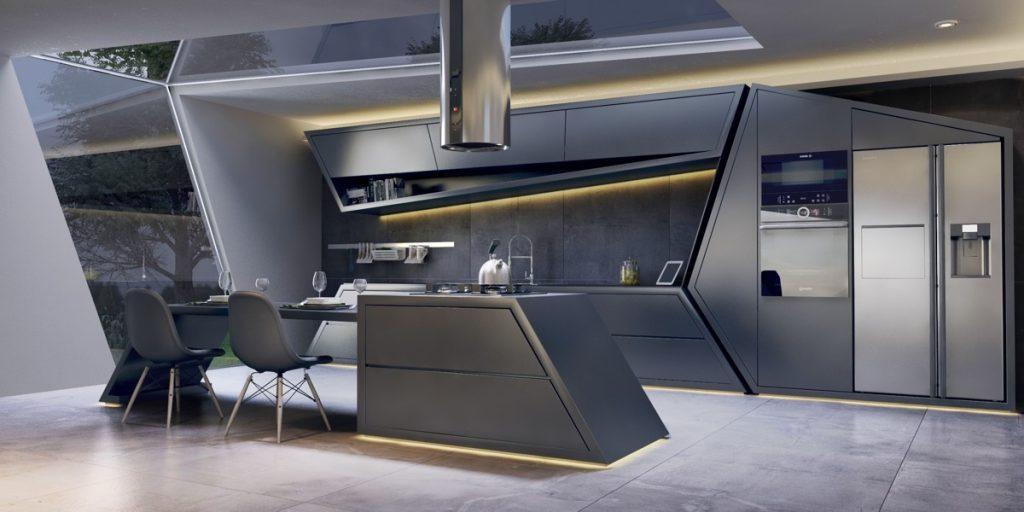thiết kế tủ bếp ấn tượng với màu sáng ấm