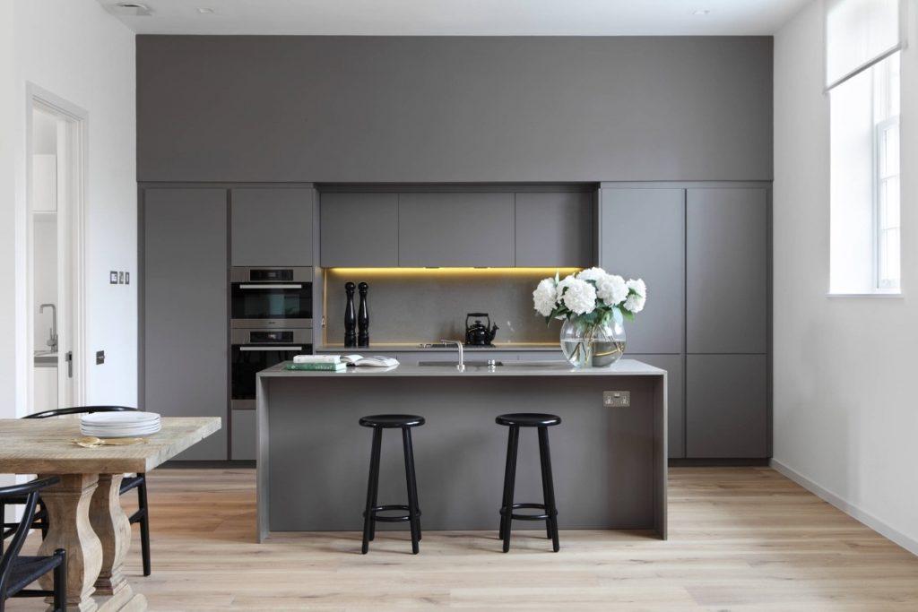thiết kế tủ bếp ấn tượng với quầy bar