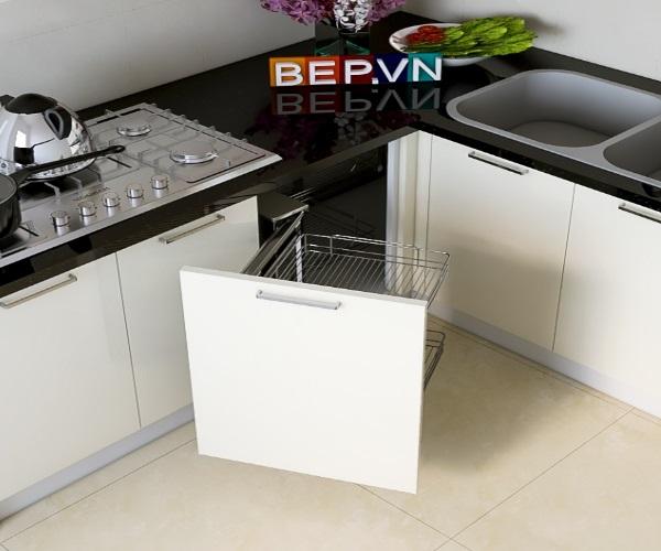 Giá góc tủ bếp là giải pháp tối ưu cho góc chết của tủ bếp.