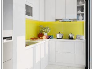Tủ bếp Acrylic chữ L gia đình chị Thủy