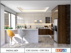 Tủ bếp Acrylic chữ G gia đình chú Giang - CIPUTRA