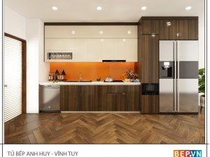 Tủ bếp Acrylic thẳng gia đình anh Huy - Vĩnh Tuy