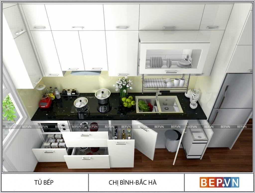 Tiện lợi và đẹp là ưu  điểm nổi bật của thùng gạo thông minh, phụ kiện tủ bếp không thể thiếu ở mọi căn bếp hiện đại.