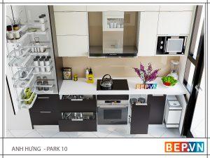 Tủ bếp Acrylic song song gia đình anh Hưng - Park Hill