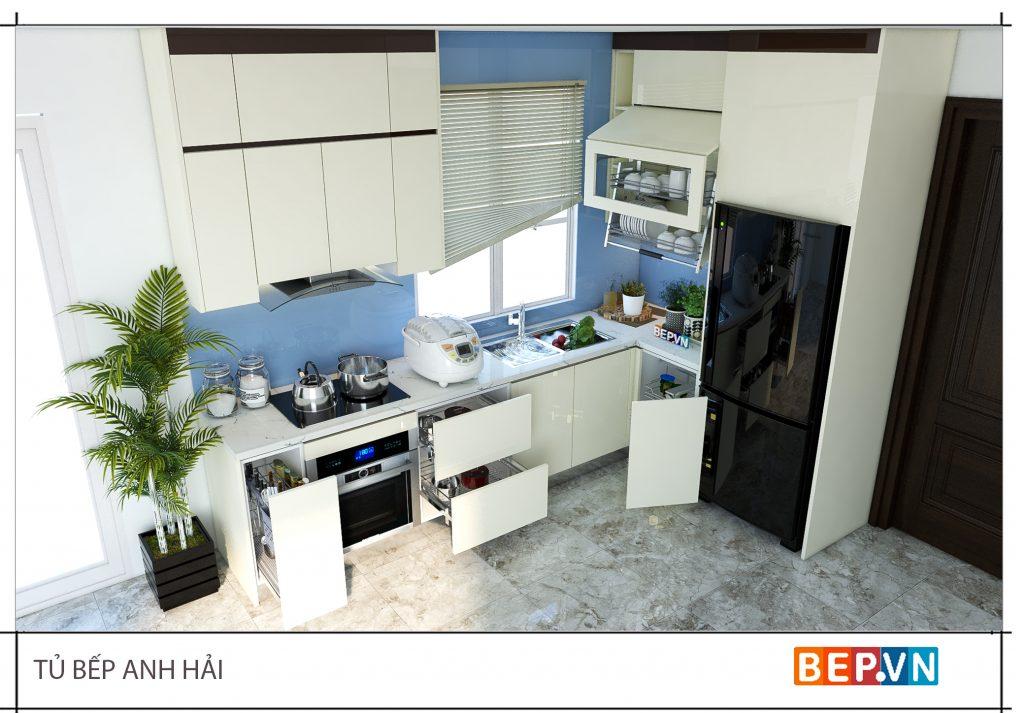 Tiện lợi và hữu ích là ưu điểm của ngăn kéo tủ bếp trong căn bếp hiện đại.
