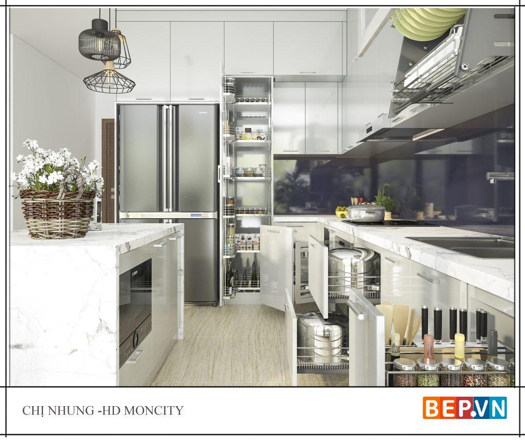 Những hình ảnh nhà bếp đẹp được trang trí với tủ bếp thông minh
