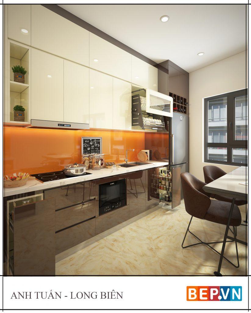 thiết kế tủ bếp ốp trần cho mọi không gian.