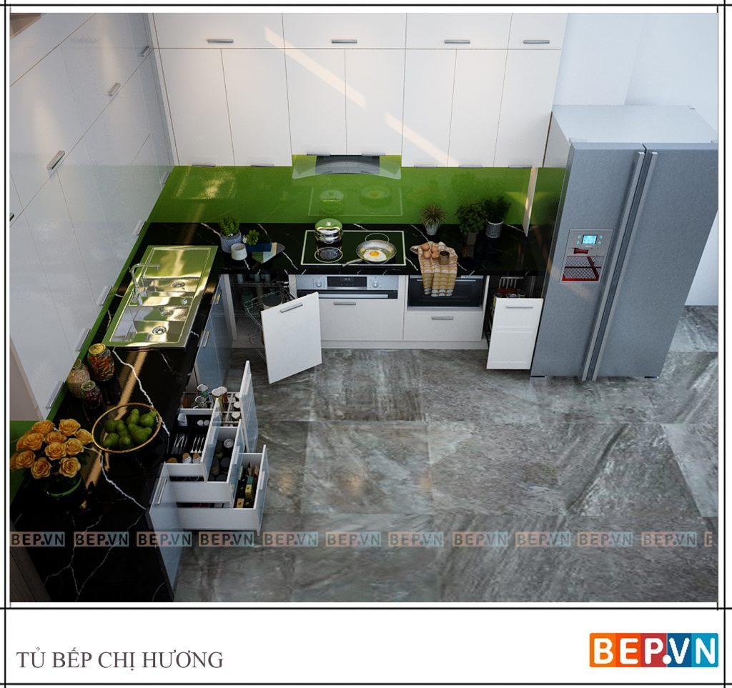 Thiết kế tủ bếp đa năng, hiện đại