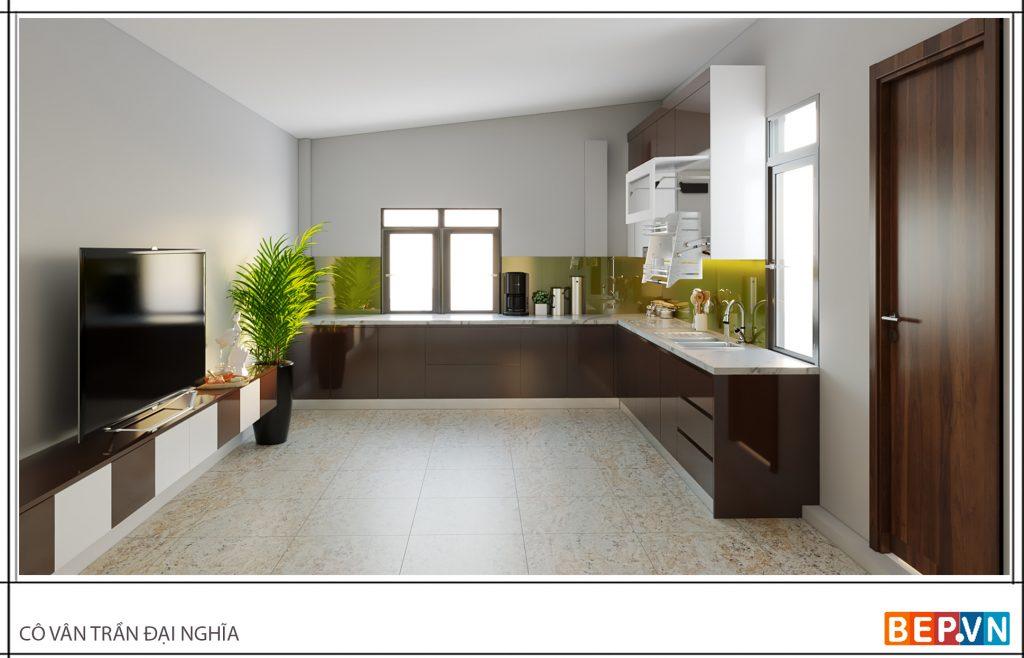 Thiết kế thêm một vài chậu cây cho nhà bếp ngập tràn sức sống