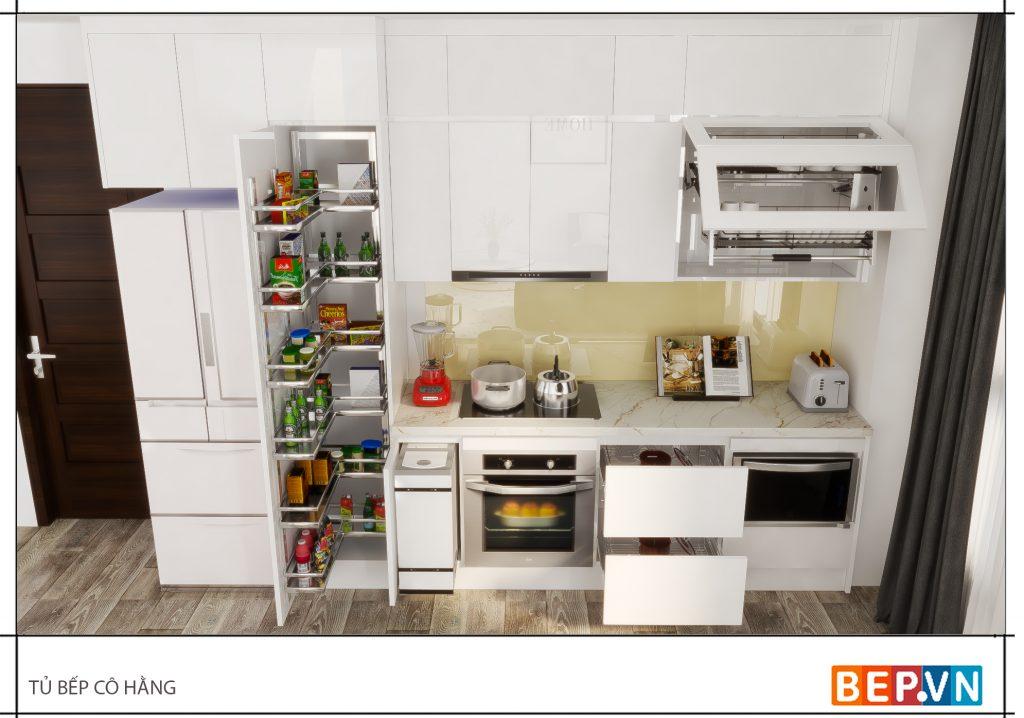 Phụ kiện tủ bếp thông minh giúp ích cho chị em nội trợ và khiến phòng bếp sạch sẽ.