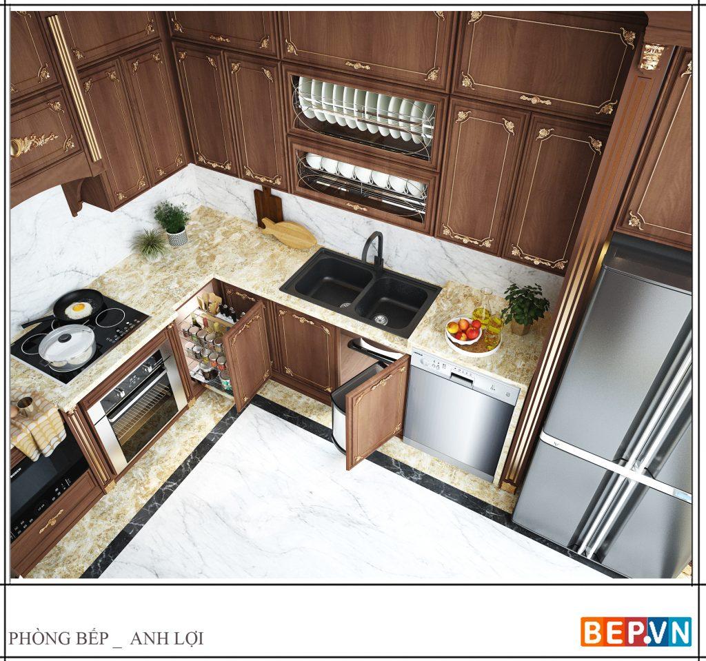 Phụ kiện tủ bếp lựa chọn hiện đại tối đa không gian lưu trữ