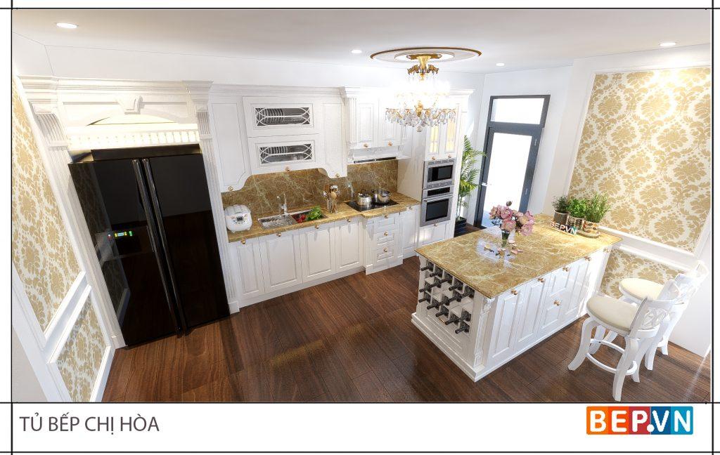 Màu sắc cho thiết kế tủ bếp ấn tượng, độc đáo