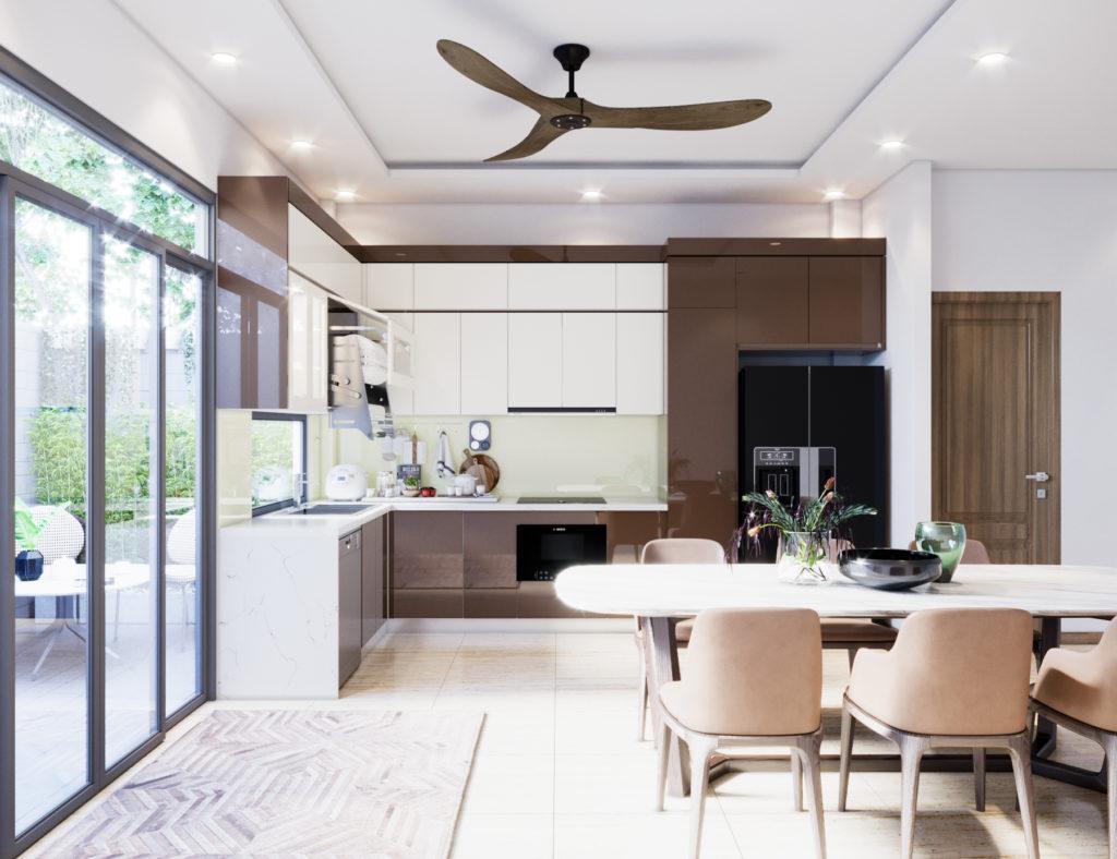 Ánh sáng tự nhiên luôn cần được ưu tiên trong phòng bếp