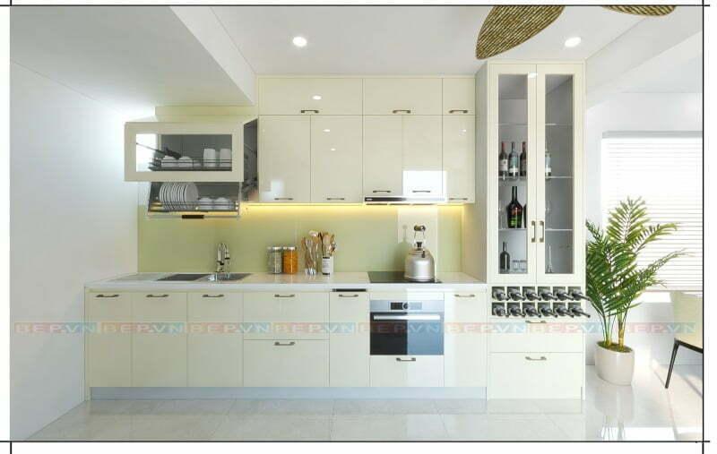Tủ bếp màu